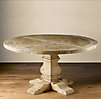Pedestal Salvaged Wood Round Tables