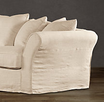 "111"" Camelback Slipcovered Sofa - Sale"