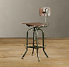 Vintage Toledo Bar Chair Antiqued Green