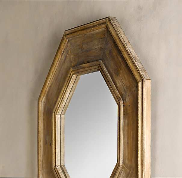Octagonal Mirror - Natural