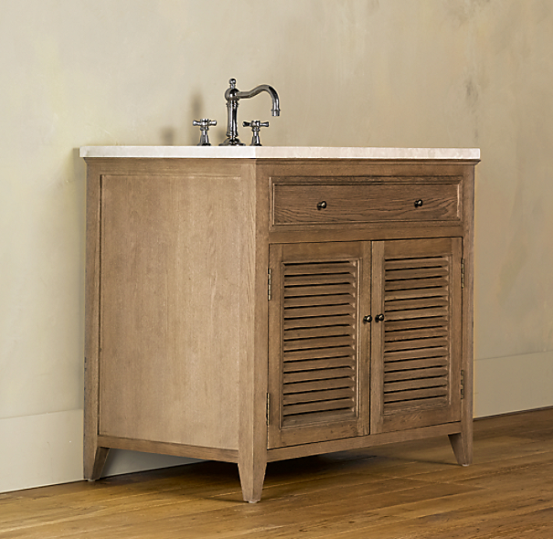 Shutter Single Vanity Sink Base