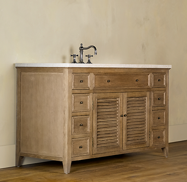Shutter Extra-Wide Single Vanity Sink Base
