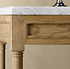 Weathered Oak Extra-Wide Single Washstand Base
