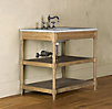 Weathered Oak Single Washstand Brown Oak