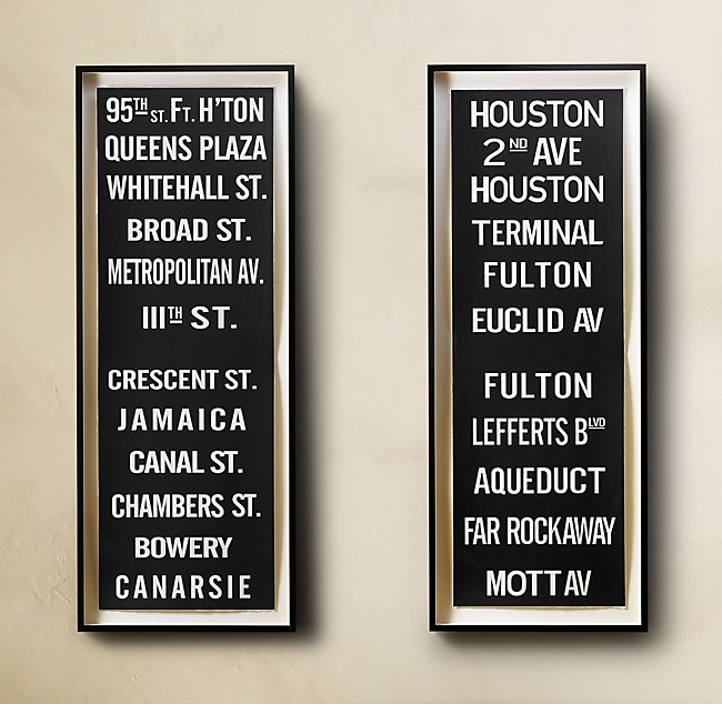 Subway Sign Art Large