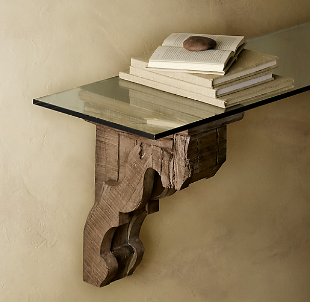 Aris Corbel & Glass Shelf