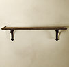 Arc Bracket & Wood Shelf
