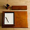 Artisan Leather Desk Accessories Chestnut
