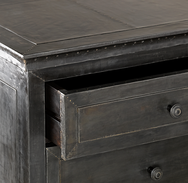 Zinc Closed Nightstand