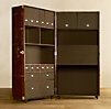 Mayfair Steamer Secretary Trunk Vintage Cigar Leather