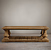 Balustrade Salvaged Wood Coffee Tables