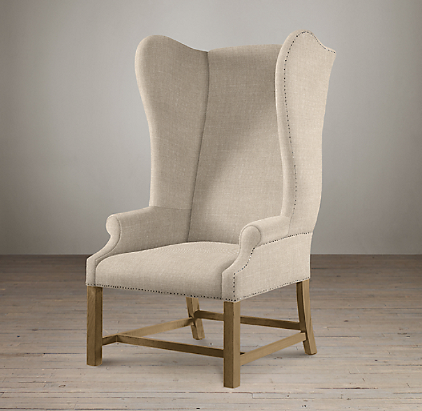 French Upholstered Wing Chair