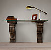 Corbel Glass Desk