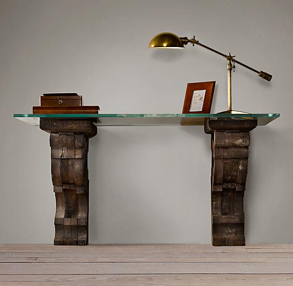 Corbel Glass Desk