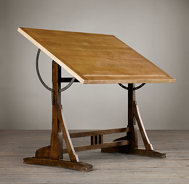 1920s French Drafting Table Parsons Interior Design 2014