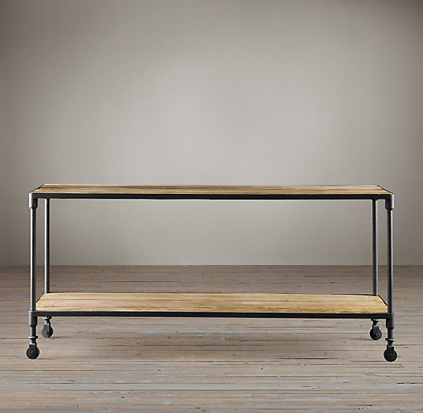 Dutch Industrial Console Tables