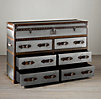 Mayfair Steamer Double Chest Brushed Steel
