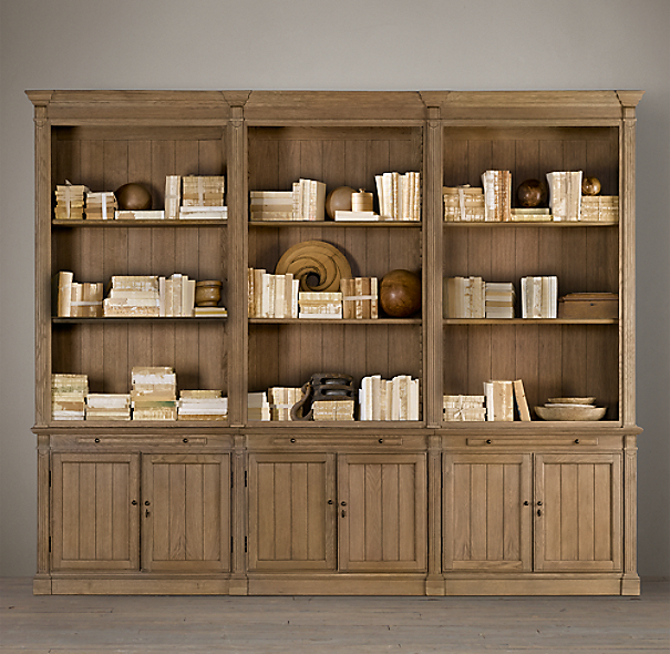 Library Triple Bookcase