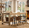 Salvaged Wood Kitchen Island Large