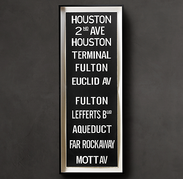 Subway Sign Art Houston