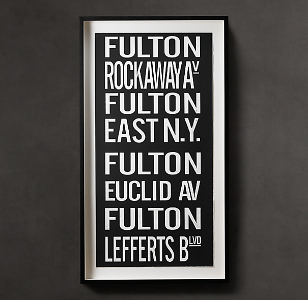 Subway Sign Art Fulton