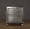 "26"" Zinc Nightstand (Set of 2 Closed)"