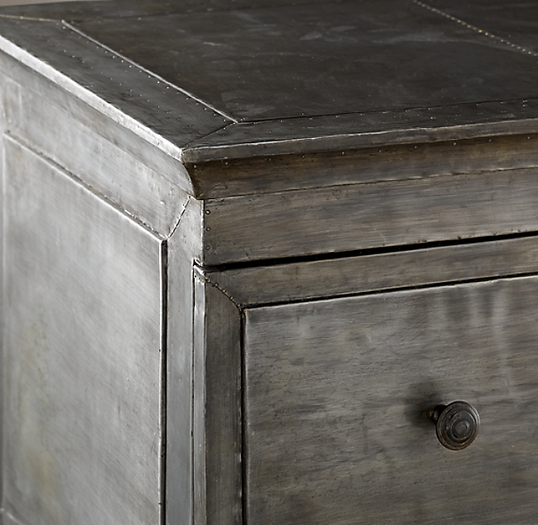 Annecy Metal Wrapped 3 Drawer Dresser