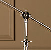 Rowan Pharmacy Task Floor Lamp Polished Nickel