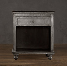 "26"" Zinc Open Nightstand"