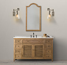 Shutter Extra-Wide Single Vanity Sink