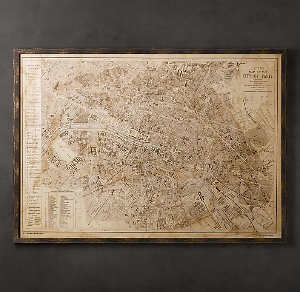 Vintage Paris Map