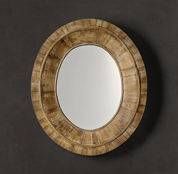 Pieced Oval Mirror - Natural