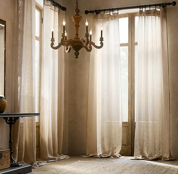Open Weave Sheer Linen Drapery