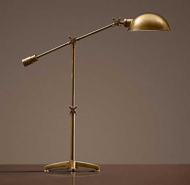 Rowan Pharmacy Task Table Lamp Antique Brass