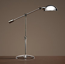 Rowan Pharmacy Task Table Lamp Polished Nickel