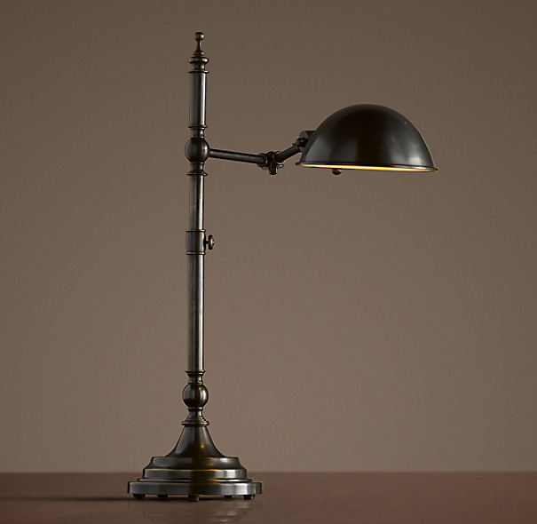 Franklin Pharmacy Task Table Lamp Bronze