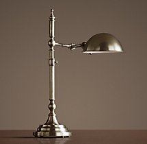 Franklin Pharmacy Task Table Lamp Antique Nickel
