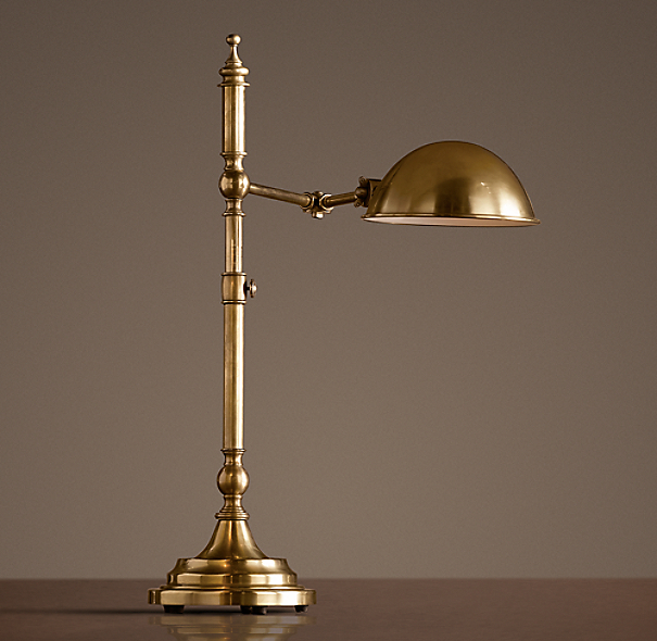 Franklin Pharmacy Task Table Lamp Antique Brass
