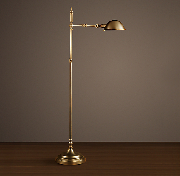 Franklin Pharmacy Task Floor Lamp Antique Brass