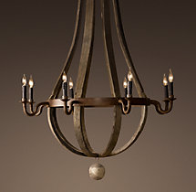 Wine Barrel 8-Arm Chandelier