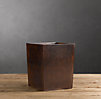 Artisan Leather Waste Basket Chocolate