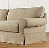 "84"" Grand-Scale Roll Arm Slipcovered Sleeper Sofa"