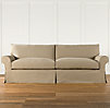 "104"" Grand-Scale Roll Arm Slipcovered Sleeper Sofa"