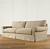 Grand-Scale Roll Arm Slipcovered Sofas
