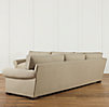 Grand-Scale Roll Arm Upholstered Corner Sectional