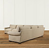 Grand-Scale Roll Arm Upholstered Right-Arm L-Sectional