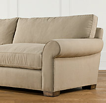 "104"" Grand-Scale Roll Arm Upholstered Sleeper Sofa"