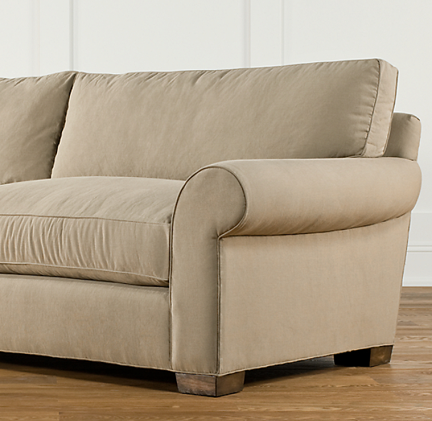 "84"" Grand-Scale Roll Arm Upholstered Sleeper Sofa"