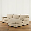 Grand-Scale Roll Arm Upholstered Sofa Chaise Sectionals