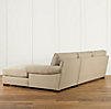 Grand-Scale Roll Arm Upholstered Right-Arm Sofa Chaise Sectional